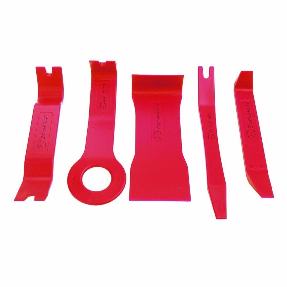 Zone Tech 5pc Trim Removal Kit Clip Interior Wedge Door Panel No scrat