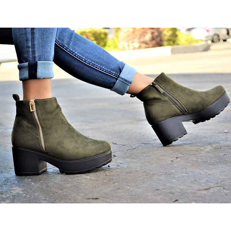 Mata Women s Micro Suede Nubuck Ankle High Sole Booties