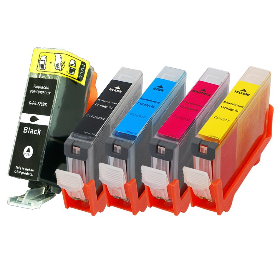 Canon PGI220 CLI221 Compatible Ink 5-Pack