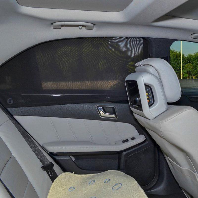 Zone Tech 2x Slip On Stretchable Mesh Protective Side Window Car Sunsh