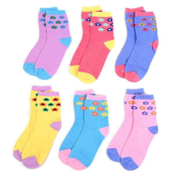 48 Pack Assorted Solid Color Kids Socks