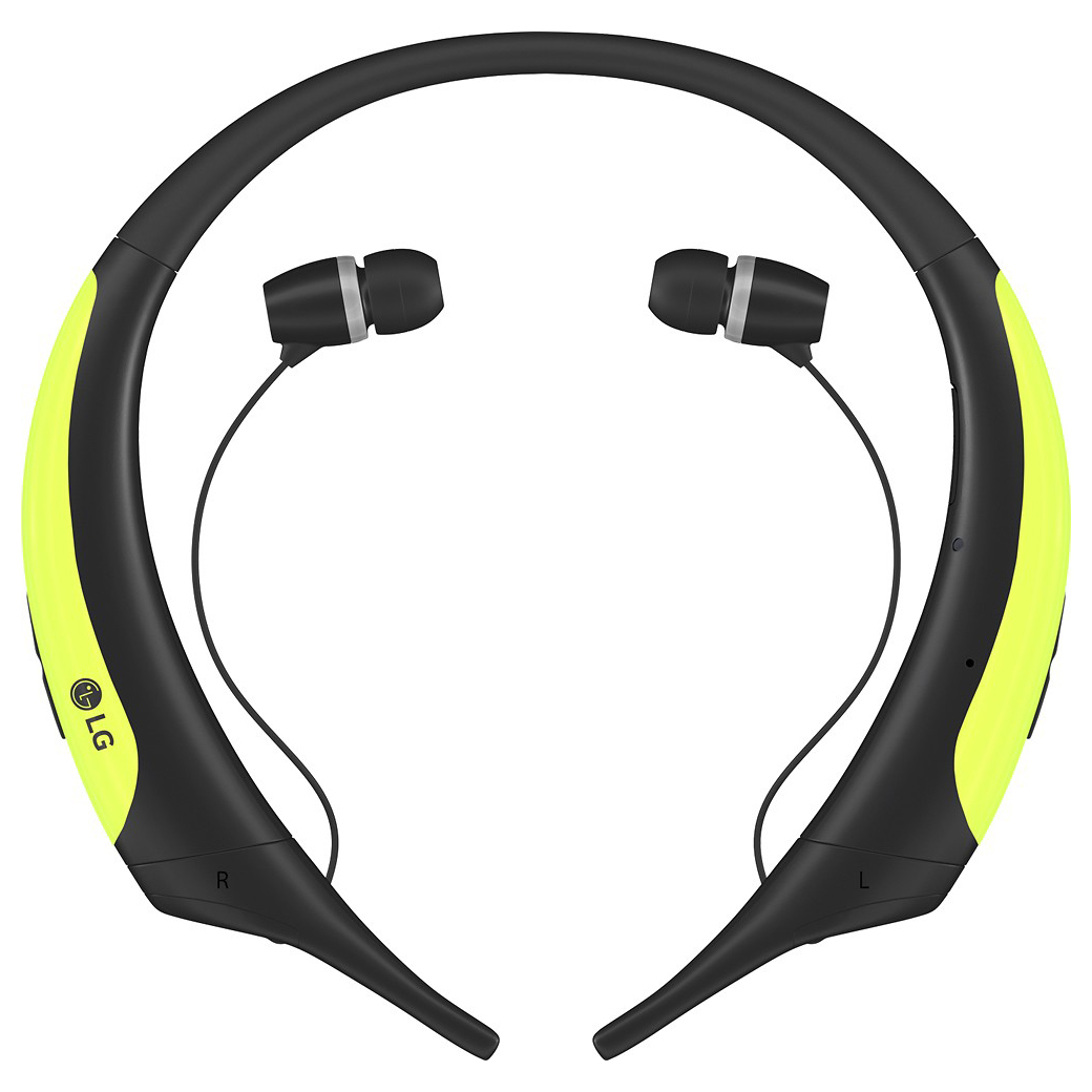 LG HBS-850 Over-Ear Wireless Bluetooth Headphones (Lime/Black)