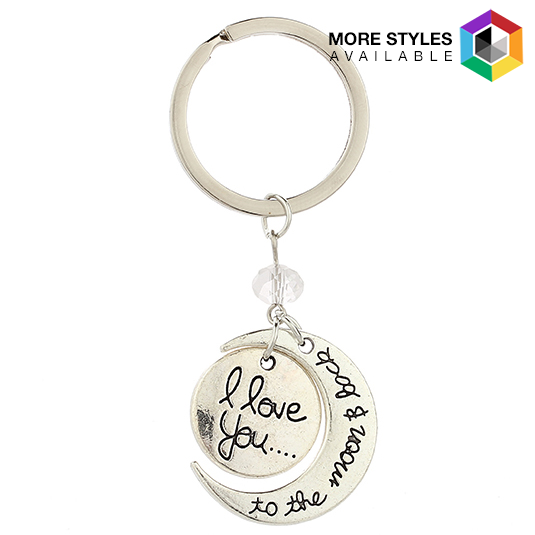 I Love You to the Moon and Back  Charm Key Chains 54763