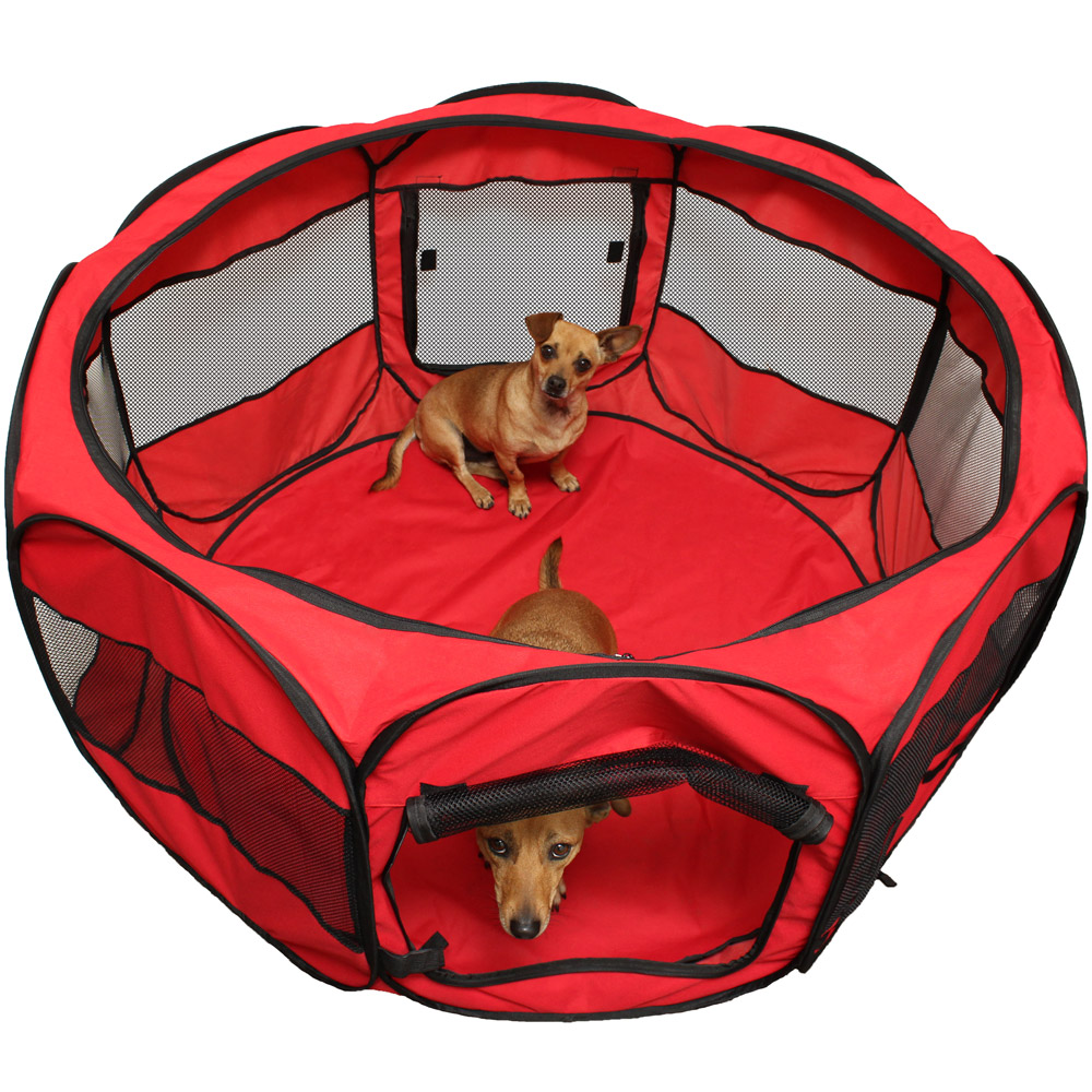 OxGord Pet Playpen With Pop Up Mesh Kennel Fence   Tanga