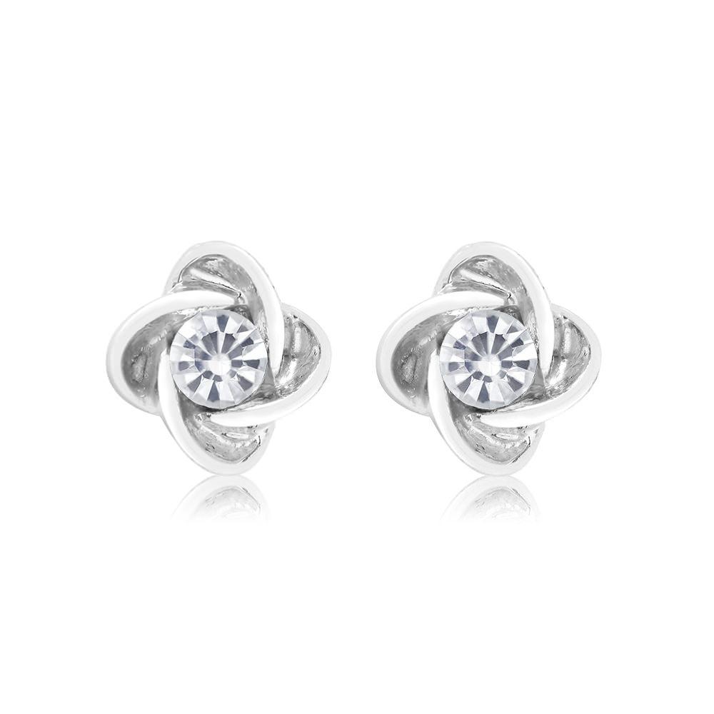 Cubic Zirconia Knot Twist Earrings
