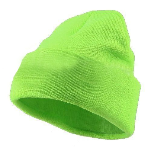 ff71d65a Neon Green Safety Winter Beanie Knit Hat
