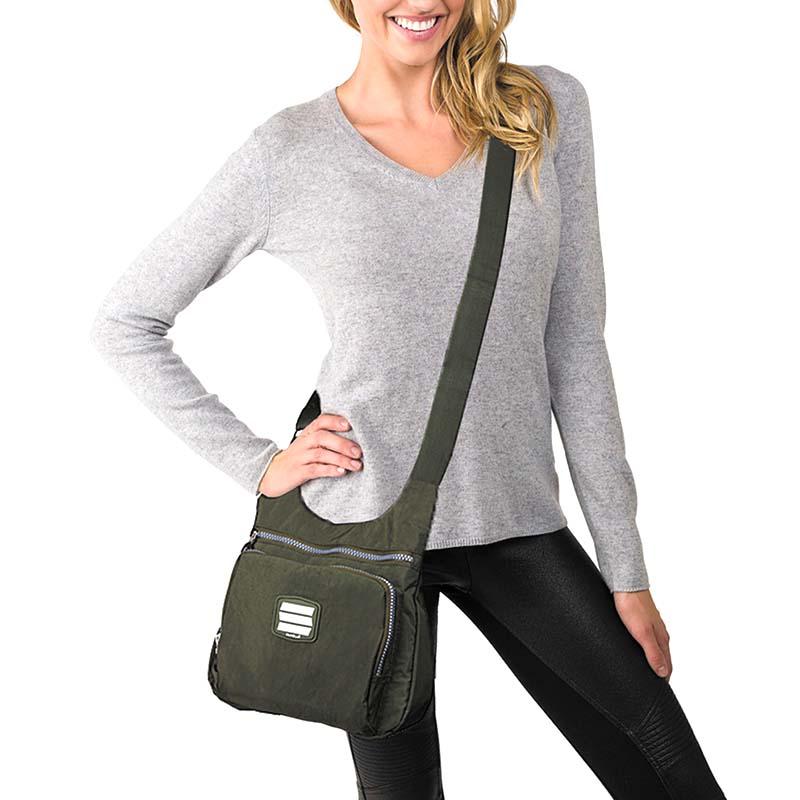 Suvelle Small City Travel Crossbody Bag Shoulder Handbag Nylon Purse