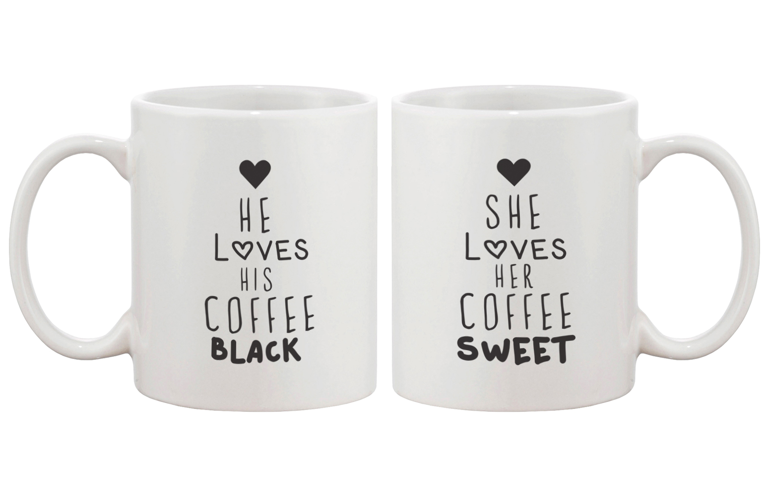 Black Coffee Matching Couple Mugs 6af2e9443c74