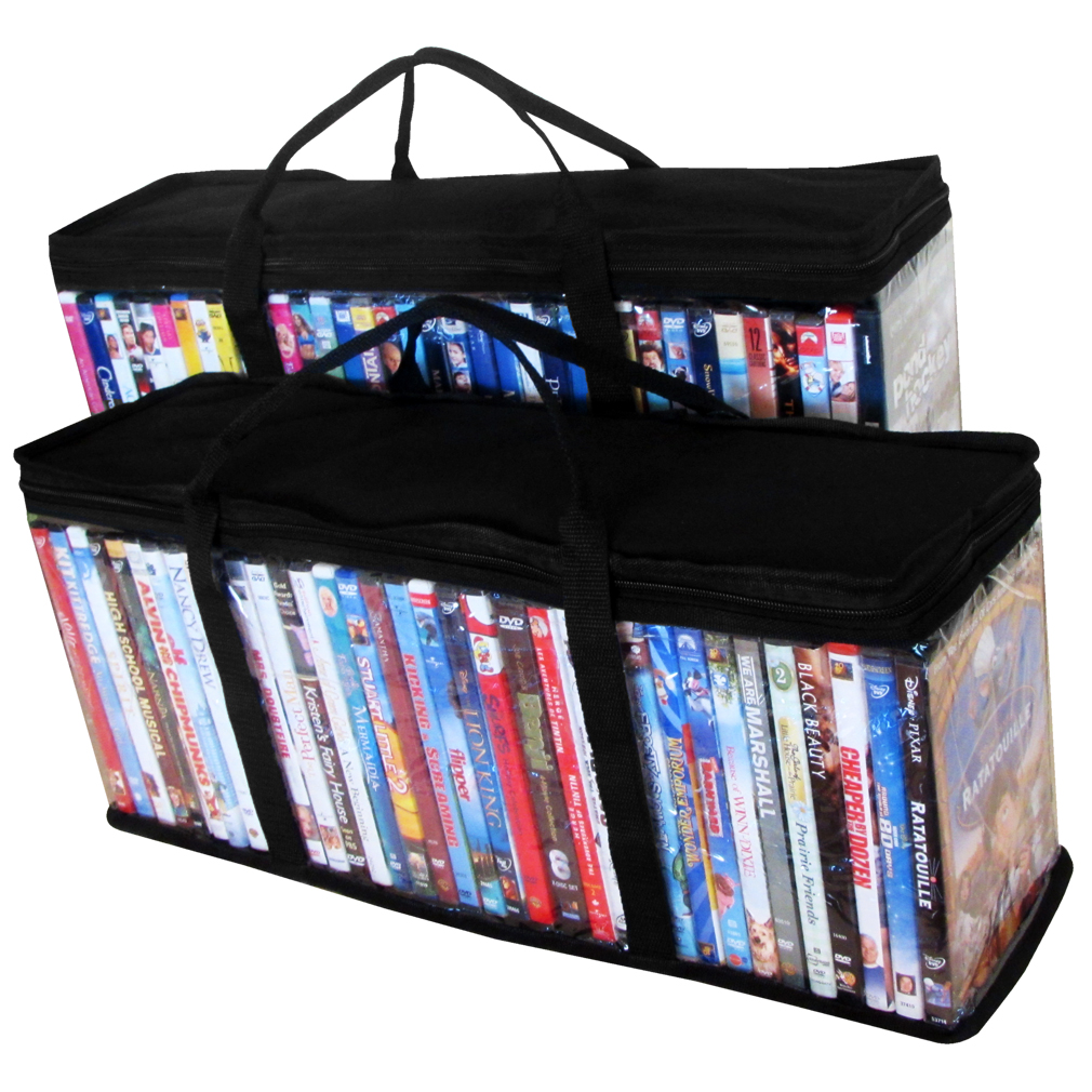 Evelots 2 DVD Blu-ray Media Storage Case Bags 37479