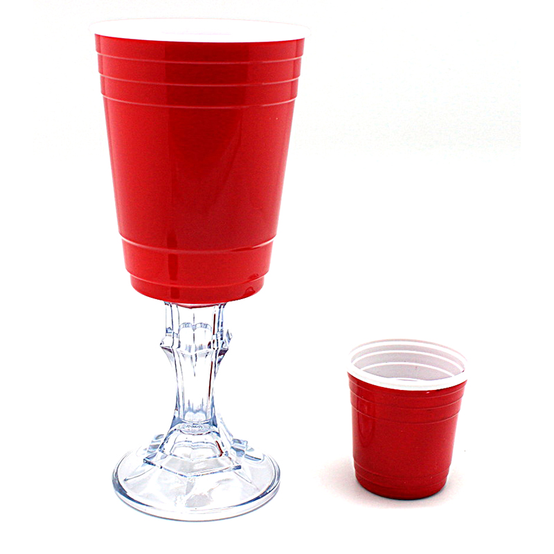 Set Of Red Cup Wine Glass  amp  Red Party Cup Bottle Opener 7c52842ca7db