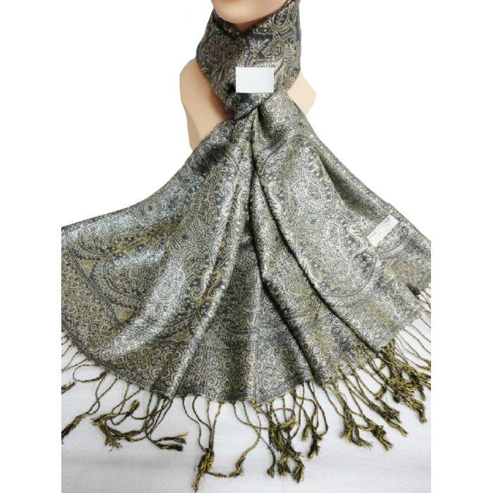 Vecceli Italy Silk Blend Shiny Pashmina Scarves 3242173