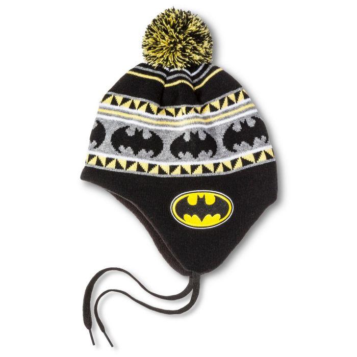Batman Festive Pom Peruvian Shoelace Knit Cap ec47e432cbba