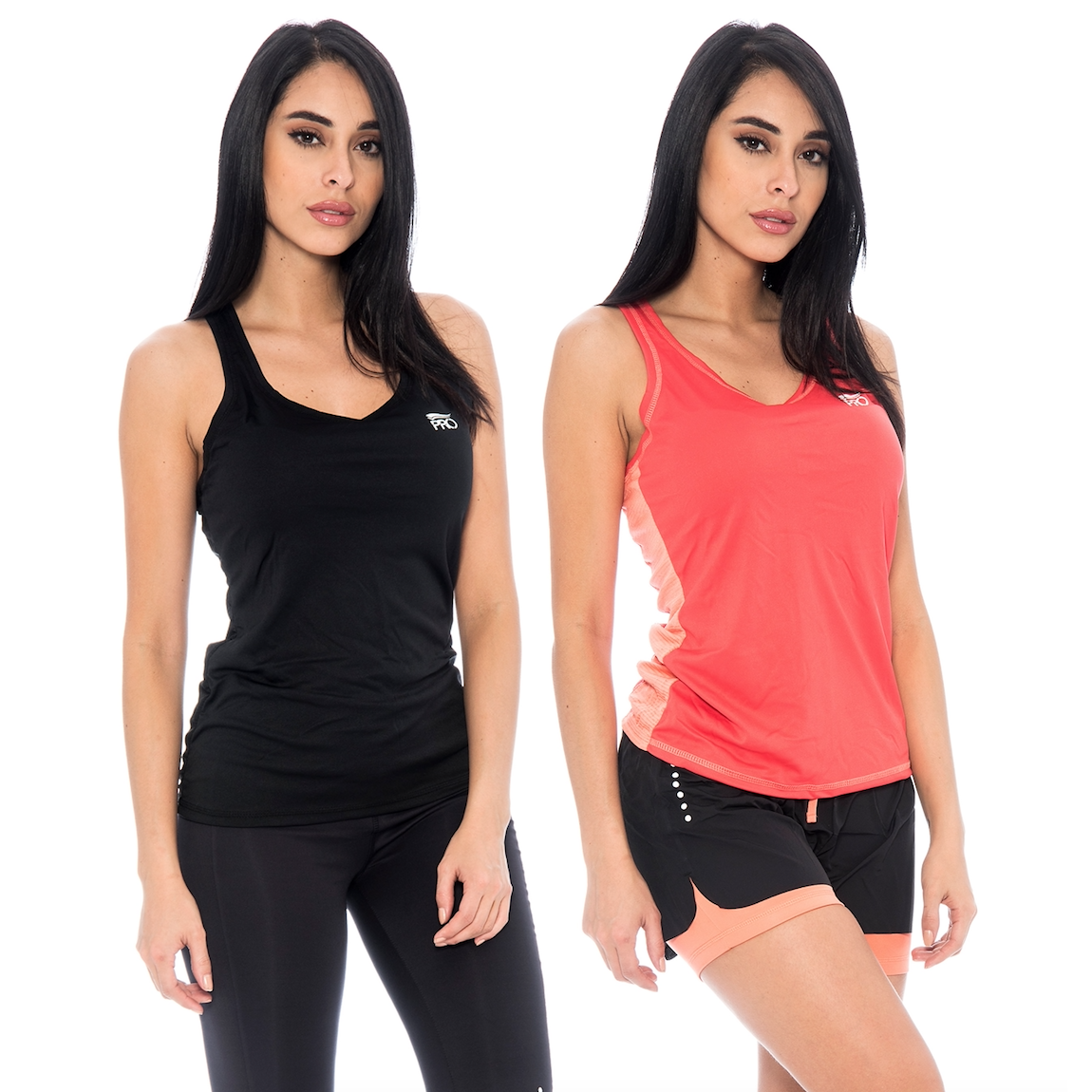 2-Pack Ladies Athletic Running Performance Apparel Tank Tops bb3f9e10bf8e