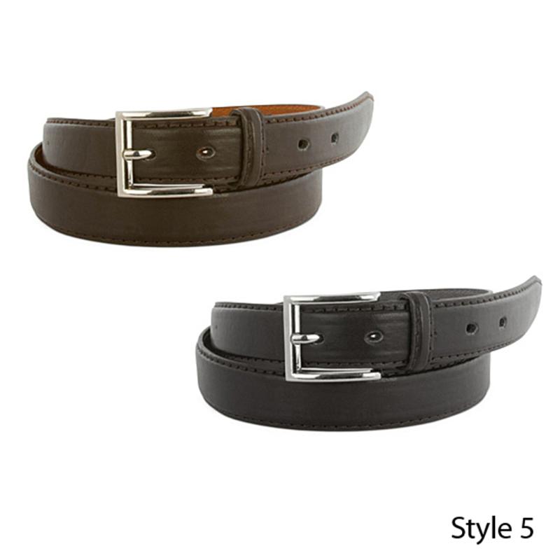 2-Pack Mens Genuine Leather Dress Belts