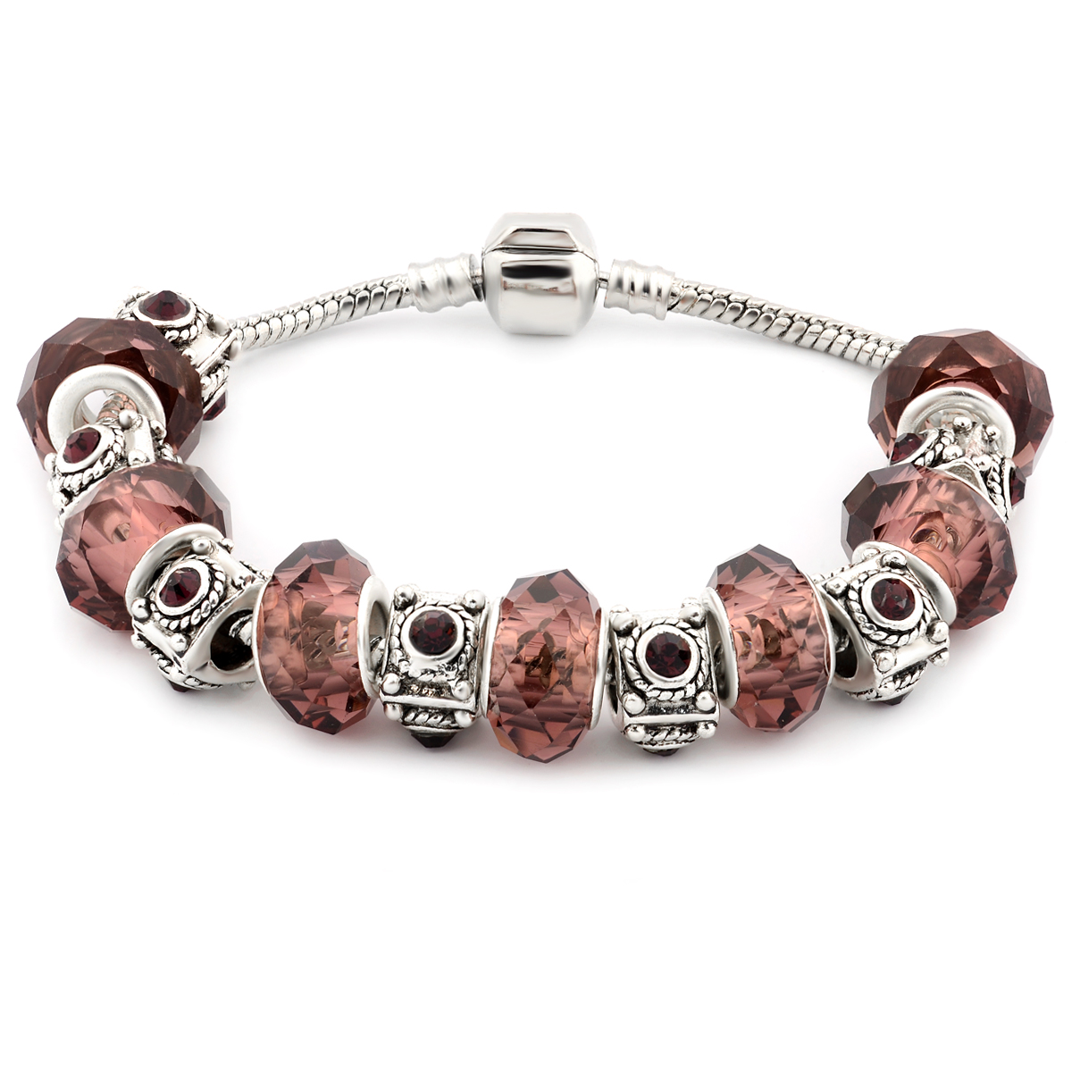 Murano Glass Bead Birthstone Bracelets - 12 Colors