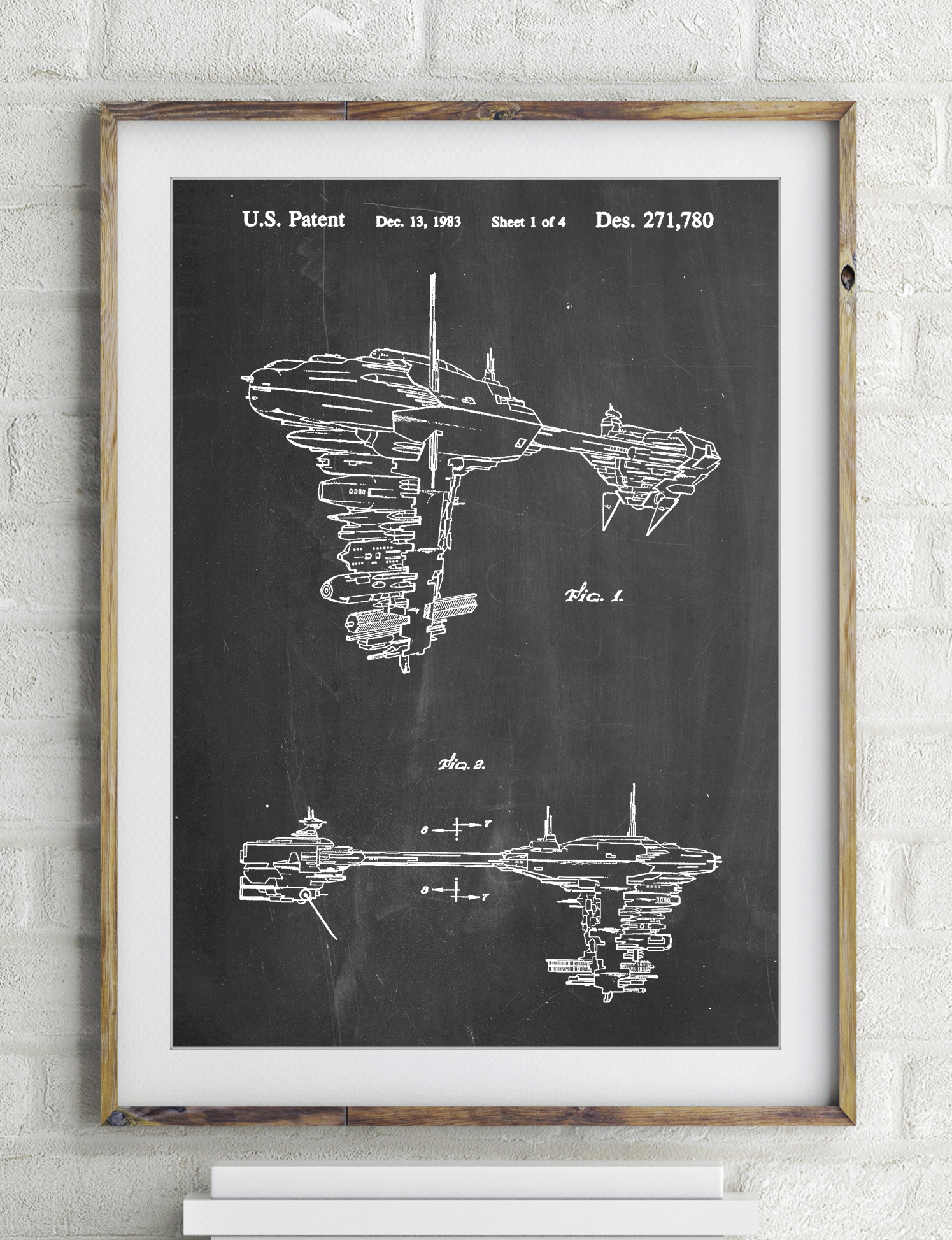 Star Wars Redemption Ship Patent Poster