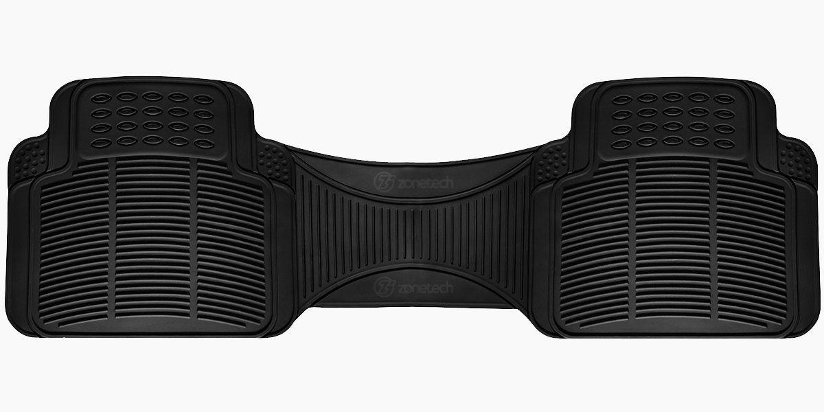 Zone Tech Car Black Rubber Floor Mat Runner Rear Liner