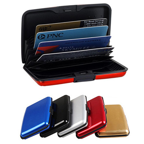2-Pk. Aluminum RFID-Blocking Credit Card Wallets in several color combinations