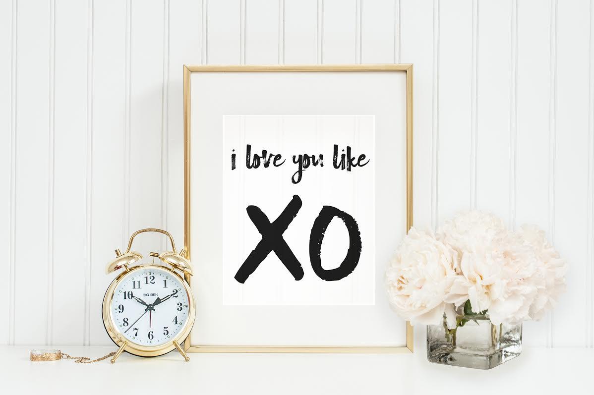 I Love You Like XO Quote Reception Backdrop | Wedding