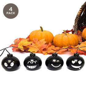 4-Pack  Mini Halloween Funny Face Speakers