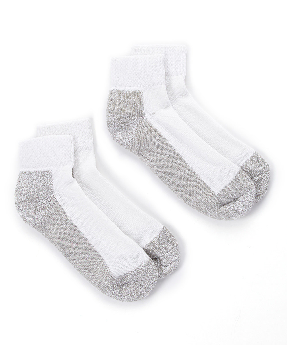 4 Pairs  Men s Double Cushion Quarter-Length Socks
