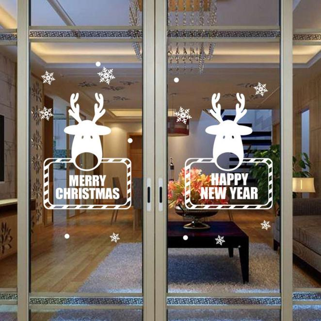 Christmas Snowflake Wall Sticker Decoration Window Stickers Home Decor b7ef68d64060