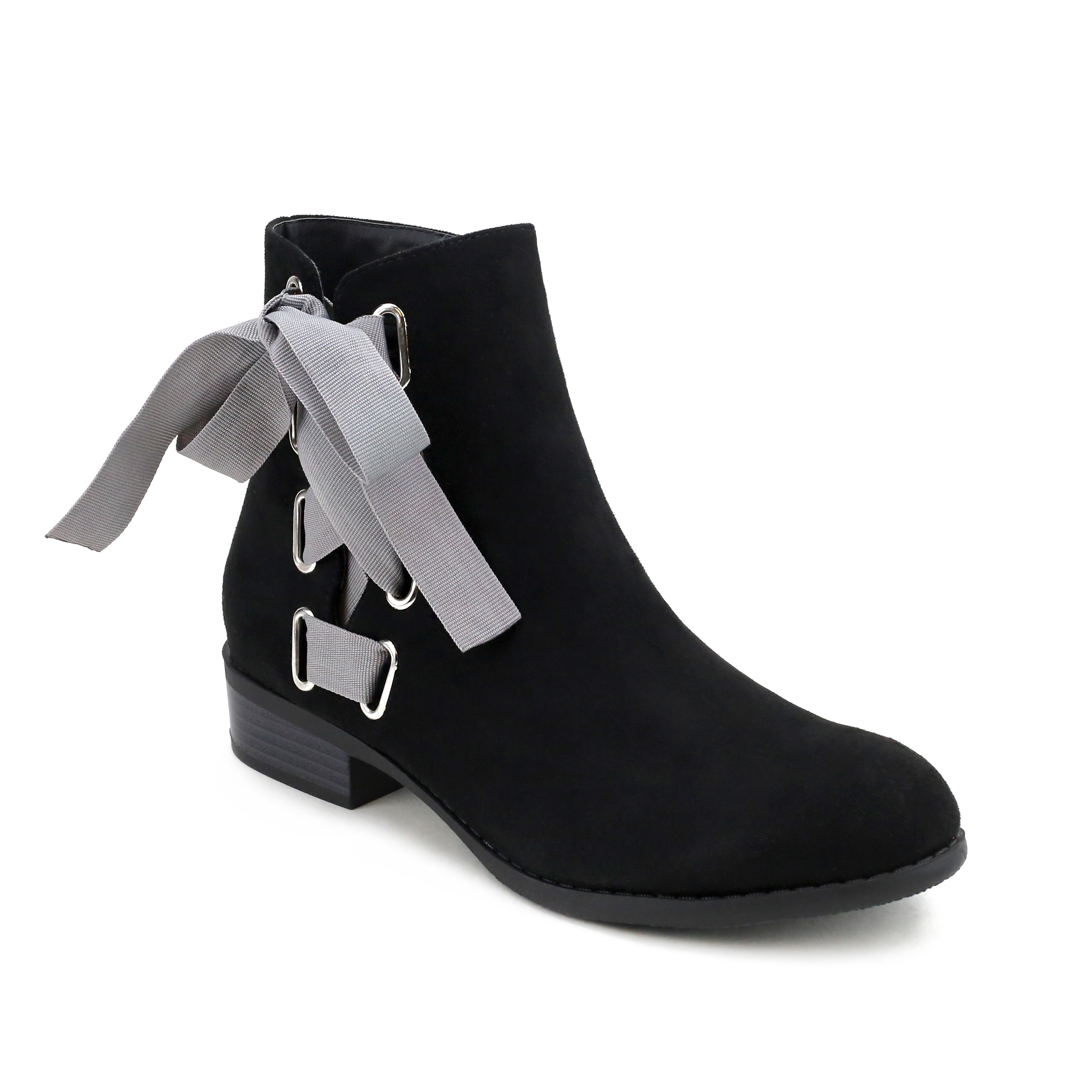 Olivia Miller  Elmhurst  Side Ribbon Laced Ankle Booties