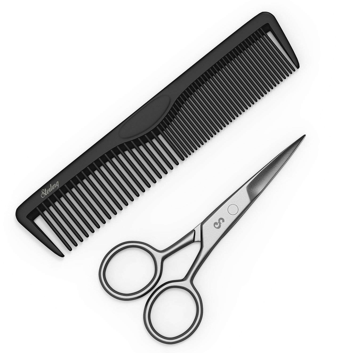 4  Facial Hair Scissors  amp  Comb for Beards, Mustaches, Eyebrows
