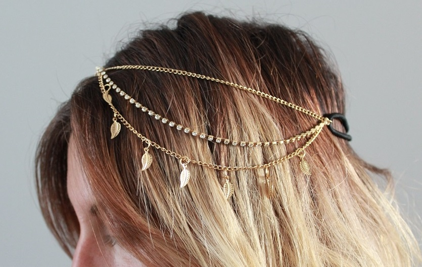 plated hair styles gold plated bohemian hair chain assorted styles tanga 3752