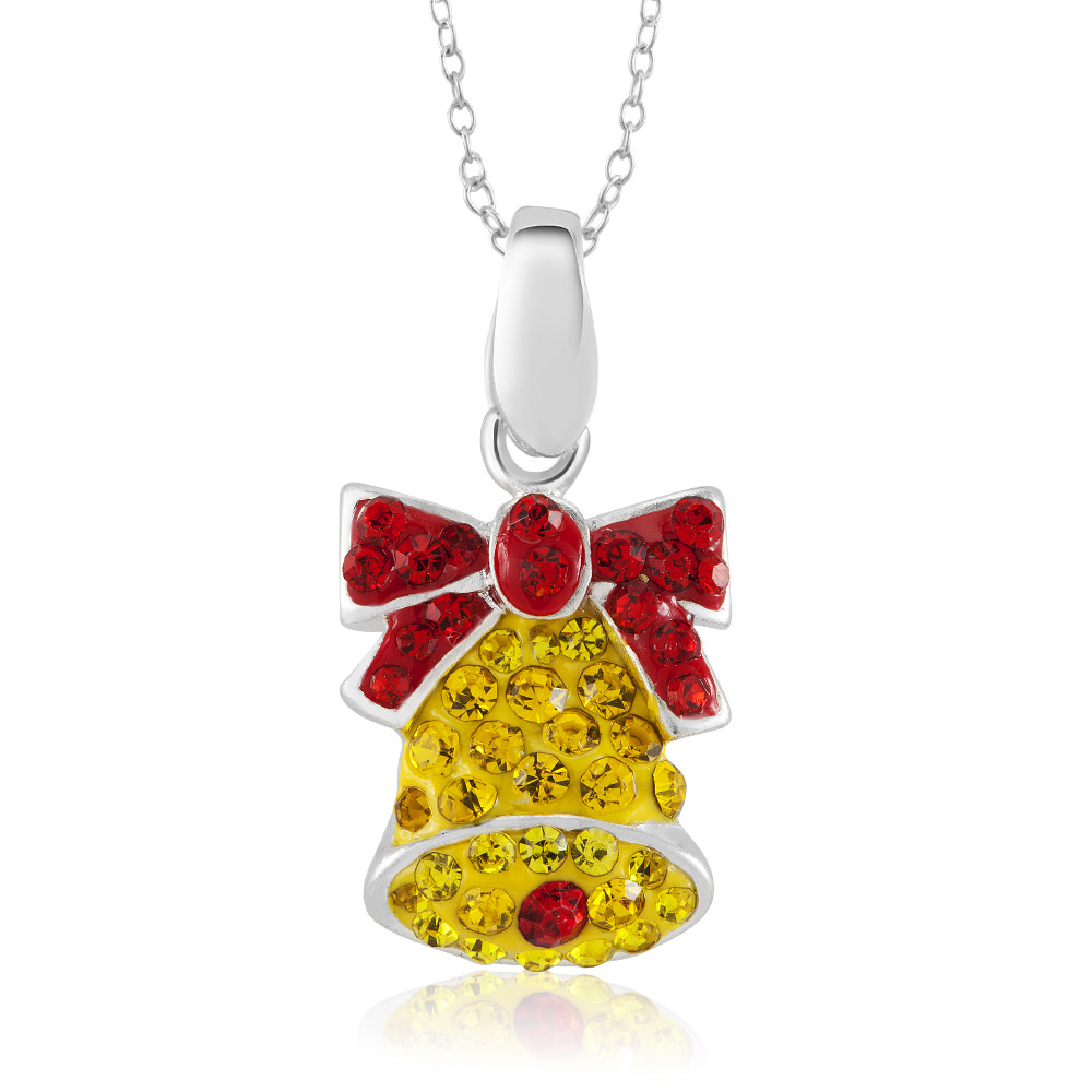 Crystal Novelty Fashion Necklace - Bell