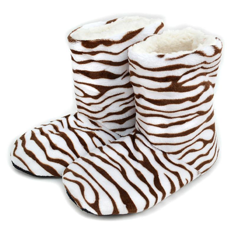 Nollia Women s Pattern Warm  amp  Cozy Indoor Non-Slip Grip Slipper Bootie