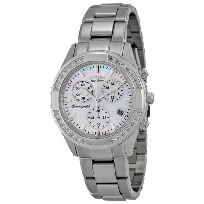 CITIZEN Women s Regent Eco-Drive Chronograph Diamond Watch FB1220-53D