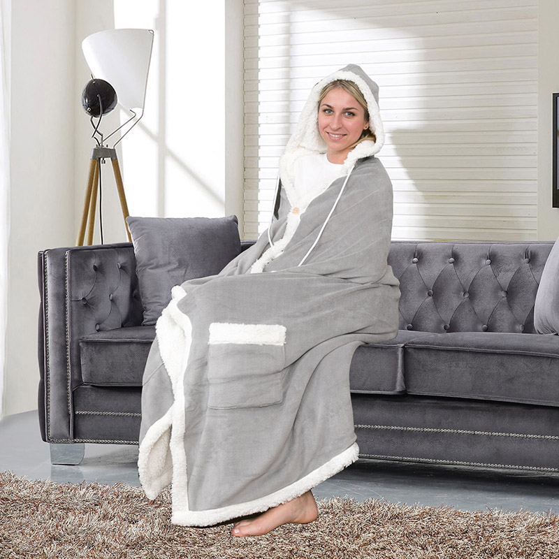 chic home sherpa lined hoodie robe assorted styles tanga. Black Bedroom Furniture Sets. Home Design Ideas