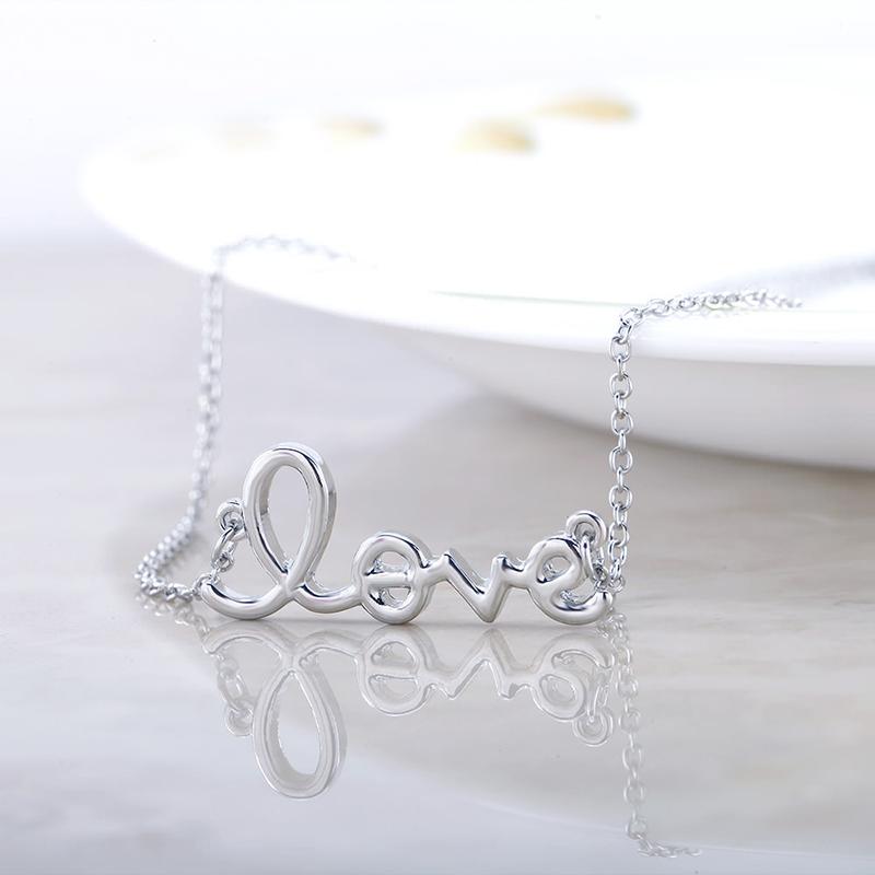Script Love Necklace