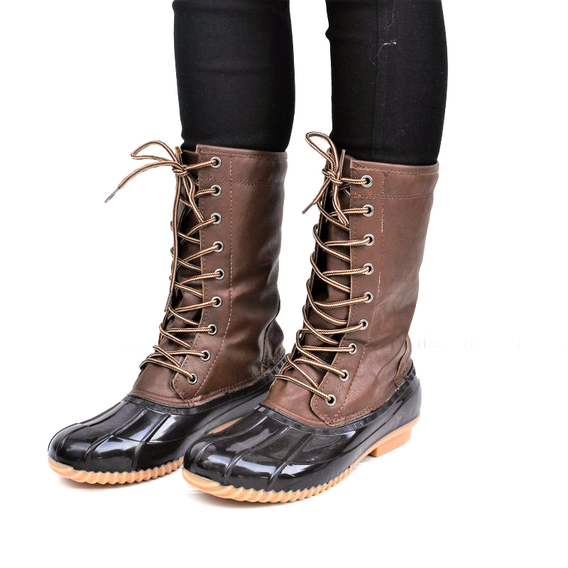 Mata Women's Soft Lined Insulated Mid-calf Duck Boots
