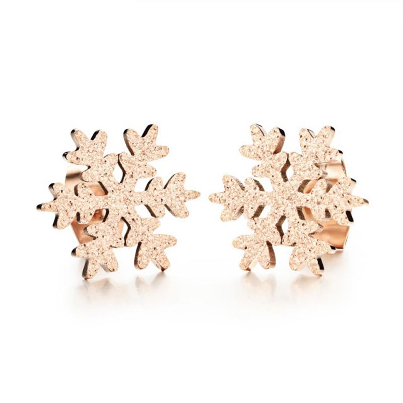 Crystal Sparks Snowflake Stud Earrings