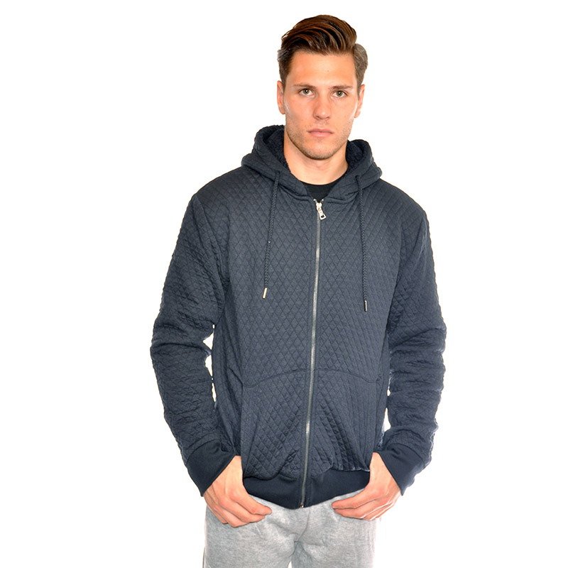 Men s Fleece Lined Quilted Hoodie (M-2X) 74428e742782