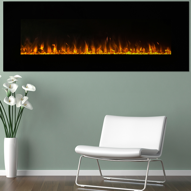 Northwest 54  LED Fire and Ice Electric Fireplace