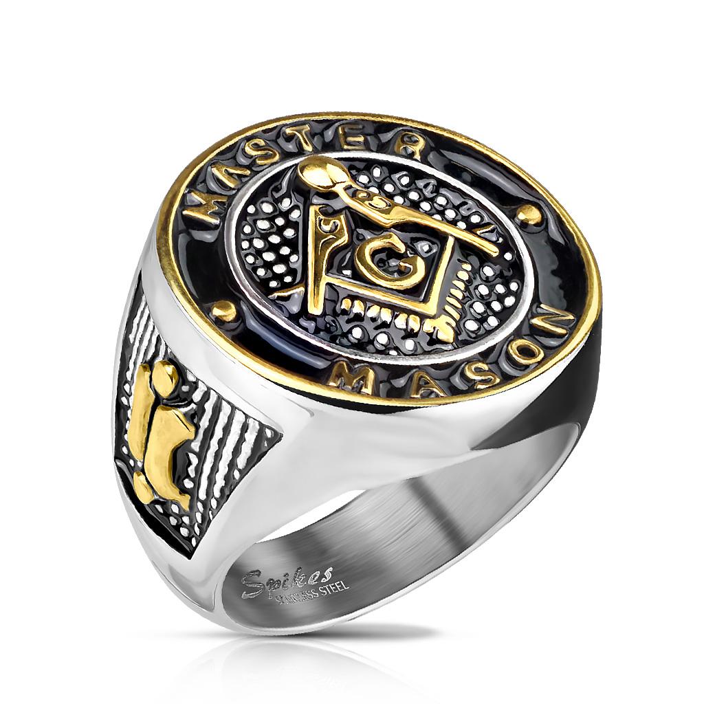 Men s Stainless Steel Master Mason Ring