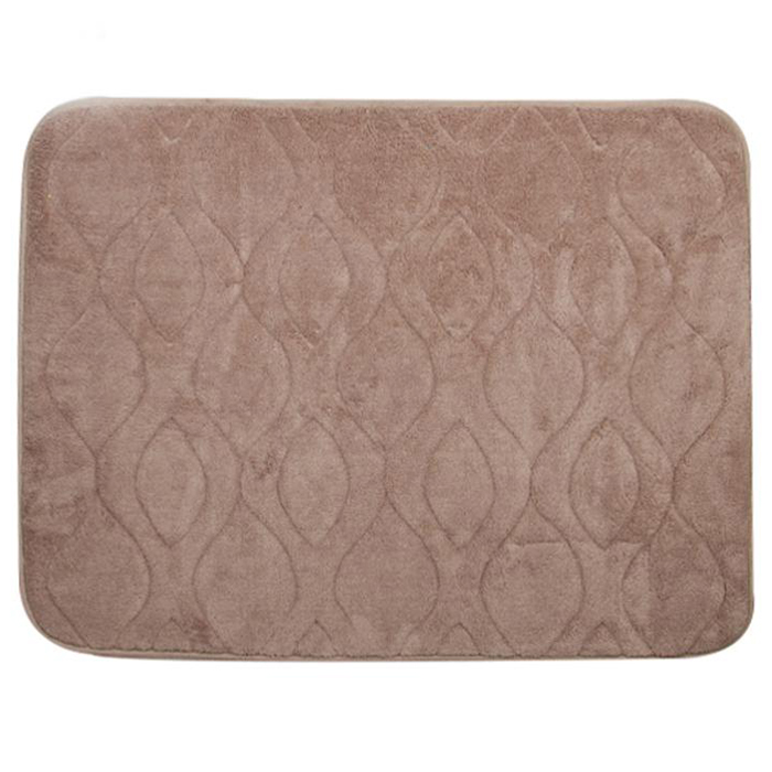 Luxury Embossed 20x34 Memory Foam Bath Mat Tanga