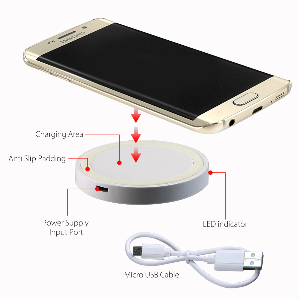 qi wireless charging pad for smartphones tanga. Black Bedroom Furniture Sets. Home Design Ideas