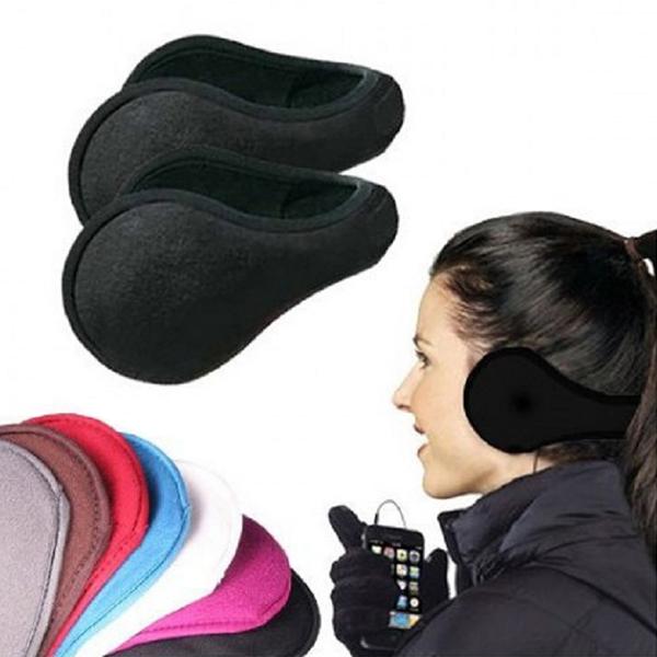 4-Pack Unisex Foldable Fleece Earmuffs - Assorted Colors