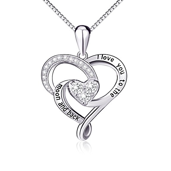 I Love You to the Moon  amp  Back Crystal Necklace