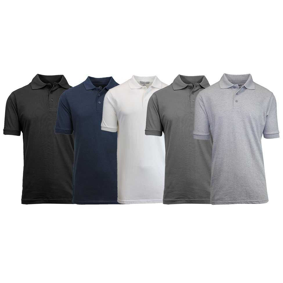 Five Mens Uniform Pique Polo Shirts