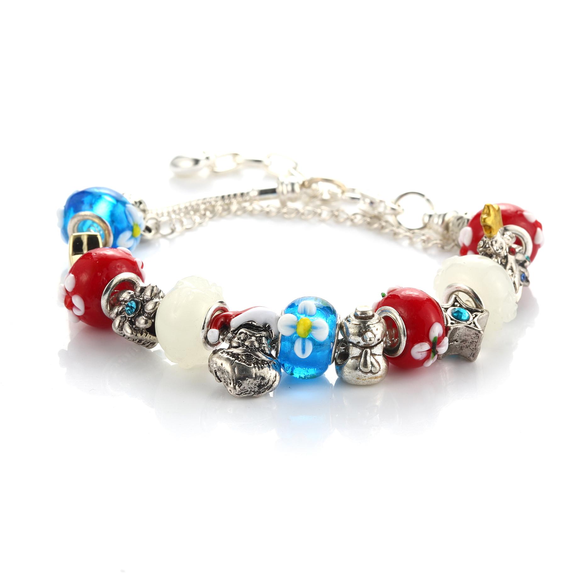 Happy Holidays Festive Charm Bracelet