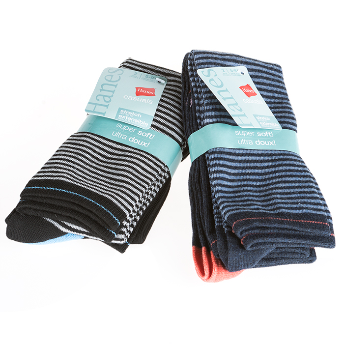 4-Pairs  Ultra soft Hanes Womens Knee-High Socks