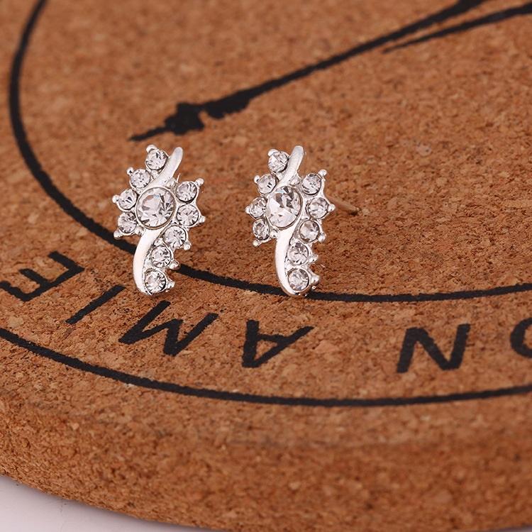 Silver Tone Multi-Stone Jacket Earrings