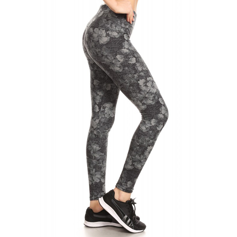 Solid and Printed High-Waist Fleece Lined Active Yoga Pants Legging 12018507
