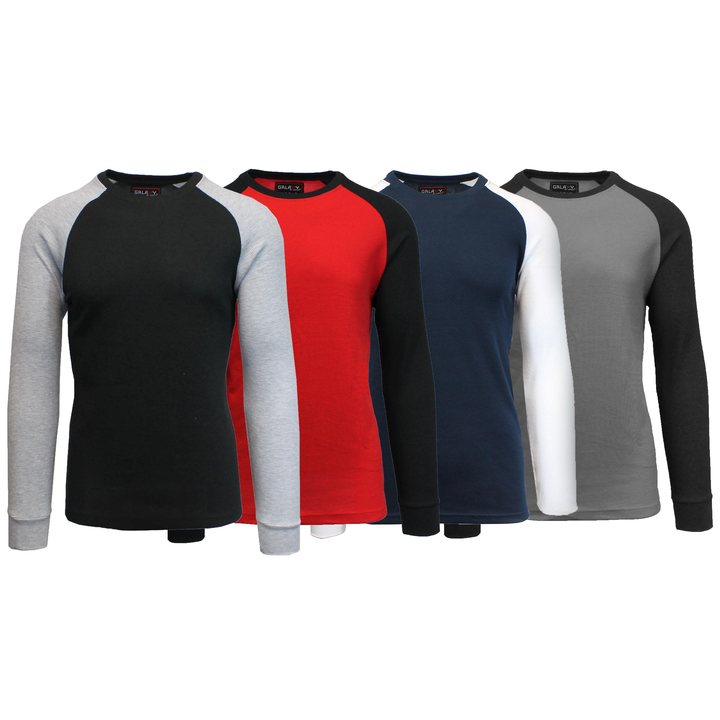 748d8a2c94aa 4-Pack Men s Galaxy by Harvic Waffle Knit Thermal Shirts - Tanga