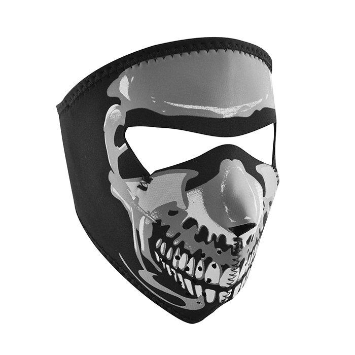 Neoprene Full Mask - Small Glow in the Dark Skull 5197
